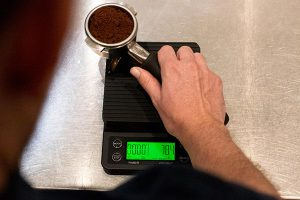 Campos Coffee scales can measure coffee.